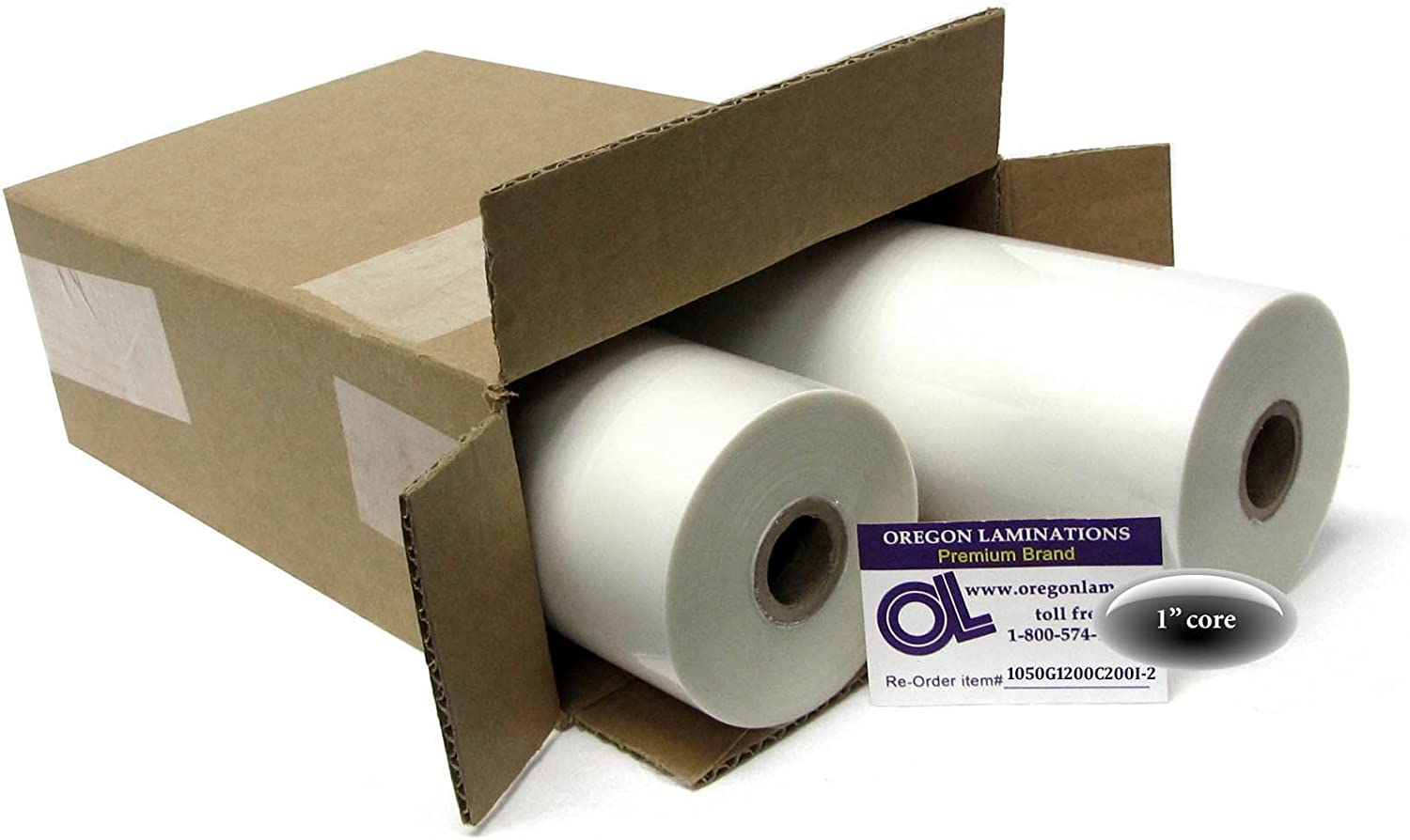 "1.7 Mil Clear Gloss Low Melt Roll Laminating Film 25/"" x 500/' 2 rolls 1/"" Core"