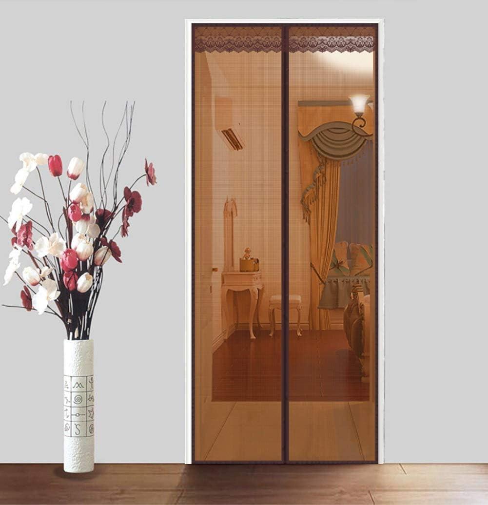 KEANCH Puerta de Malla magnética contra Insectos, Marco De Sellar Completo y Malla Resistente, para Puertas Correderas/Balcones/Terraza (Color : Brown, Tamaño : 95x220cm(37x87inch)): Amazon.es: Hogar