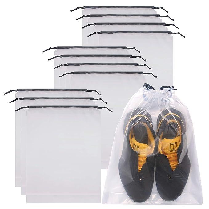 Amazon.com: DIOMMELL - Juego de 12 bolsas transparentes para ...