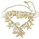 Sanwood Ozean-Art Multi Seestern Sea Star Seestern Conch Shell Perlen Starfish Kette Necklace