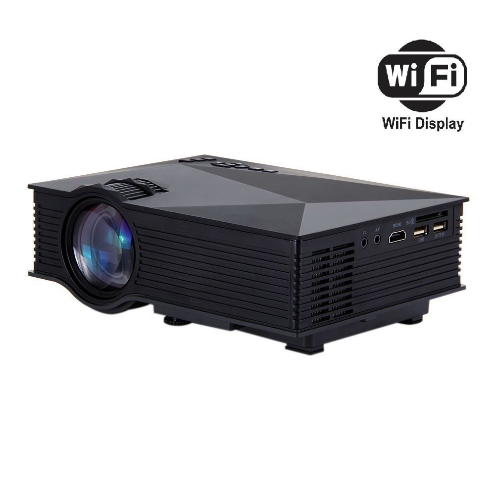 BlazeBox UC46 WiFi Full HD 1080P LED Video Projector Home Theater SD TV/USB/VGA/PC - Black