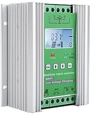 Controlador de Carga MPPT Wind Solar Hybrid Controller Control inteligente, Regulador de carga Wind Solar Hybrid Controller con pantalla LCD y carga de descarga externa(JW2460)