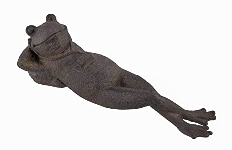 Exceptionnel Outdoor Napping Garden Frogs Statue