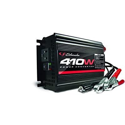 Schumacher XI41B 410W Power Converter with Battery Clamps and 12V Adapter Plug: Automotive