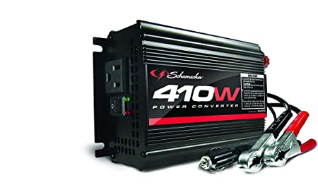 Schumacher XI41B 410W Power Converter with Battery Clamps and 12V Adapter Plug