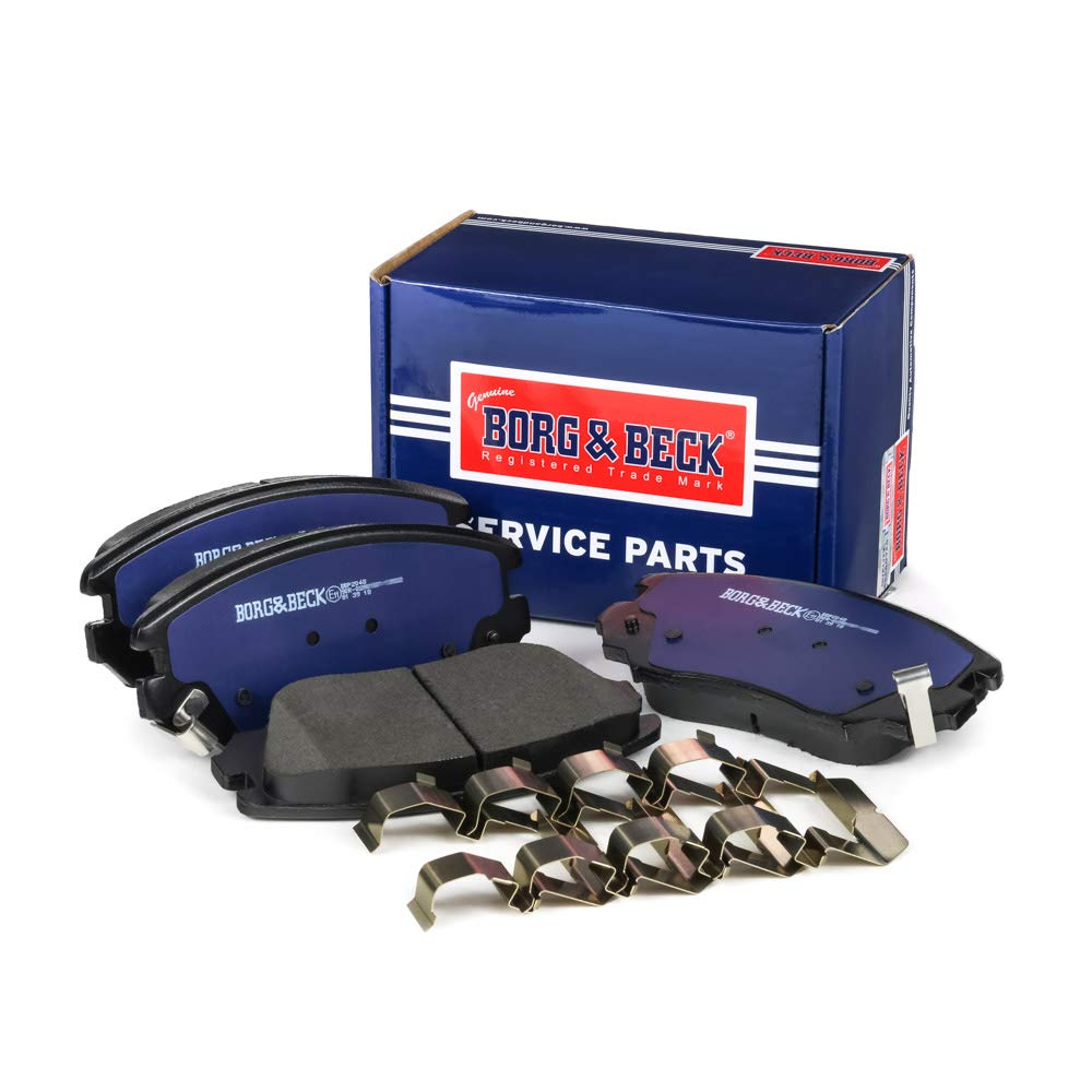 Borg /& Beck BBP2048 Front Brake Pads Mando Includes Wear Indicators//Leads