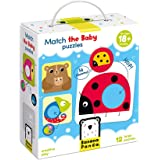Banana Panda Match The Baby Puzzle Set, Beginner Puzzles & Matching Activity For Kids Ages 18 Months & Up, Multicolor…