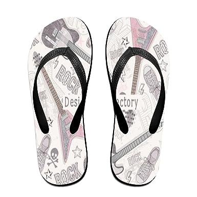 40597313b Tailing Flip Flops Rock Violin Unisex Trendy Print Slippers Beach Sandal