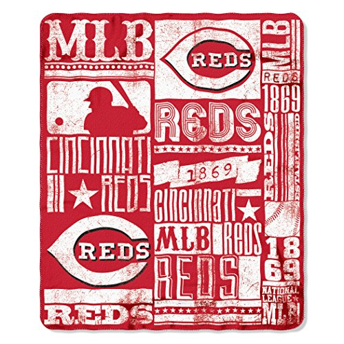 The Northwest Company MLB Cincinnati Reds Strength Printed Fleece Throw, 50 x 60-inches