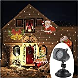 TOMSHINE LED Weihnachtsbeleuchtung Projektionslampen Projektor mit 12 Muster Timer-Funktion IP44 Wasserdicht für Weihnachten Party
