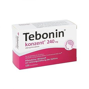 240 mg comprimidos recubiertos con película 120 unidades Tebonin Concent: Amazon.es: Hogar