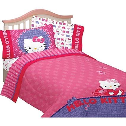 Hello Kitty Microfiber Kitty U0026 Me Twin/full Bedding Comforter