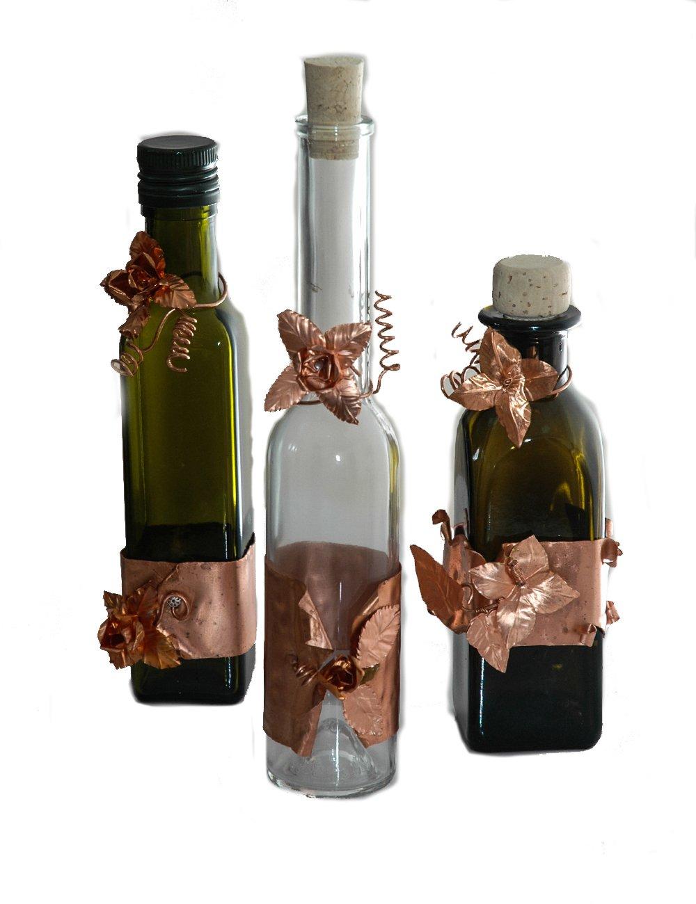 Genio Italiano - 3 Botellas de cristal (1 Aceite BT, 1 Vinagre BT ...