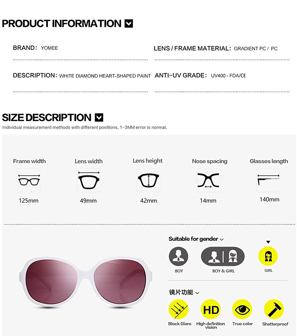 with Crushproof Zipper Case White Cute Kids Sunglasses with Case UV400 Gradient Lens for Baby Girls Boys Child Age 2-8