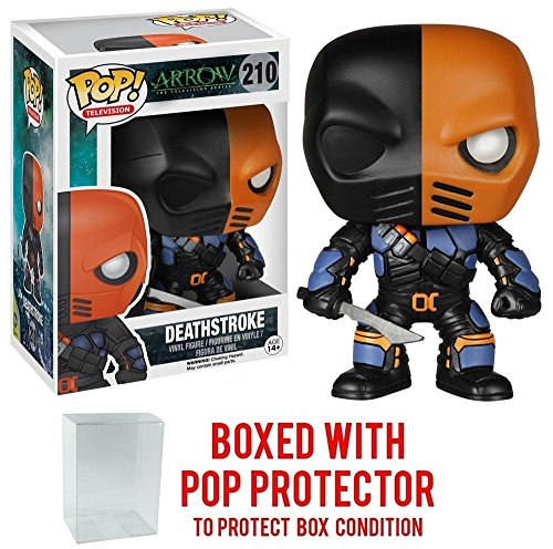 Funko Pop! TV: Arrow - Deathstroke Vinyl Figure (Bundled with Pop BOX PROTECTOR CASE)
