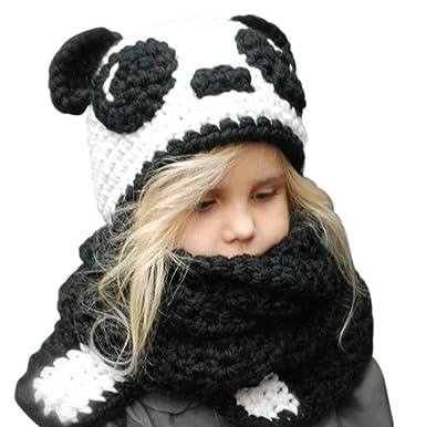 Vêtements et accessoires pour bébé Enfants Filles Hiver Laine tricot FAIT MAIN châles écharpe à Capuche Capot Beanie Caps