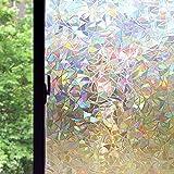 CUH 3d No Glue Static Window Films Decorative Privacy Non-Adhesive Window ...