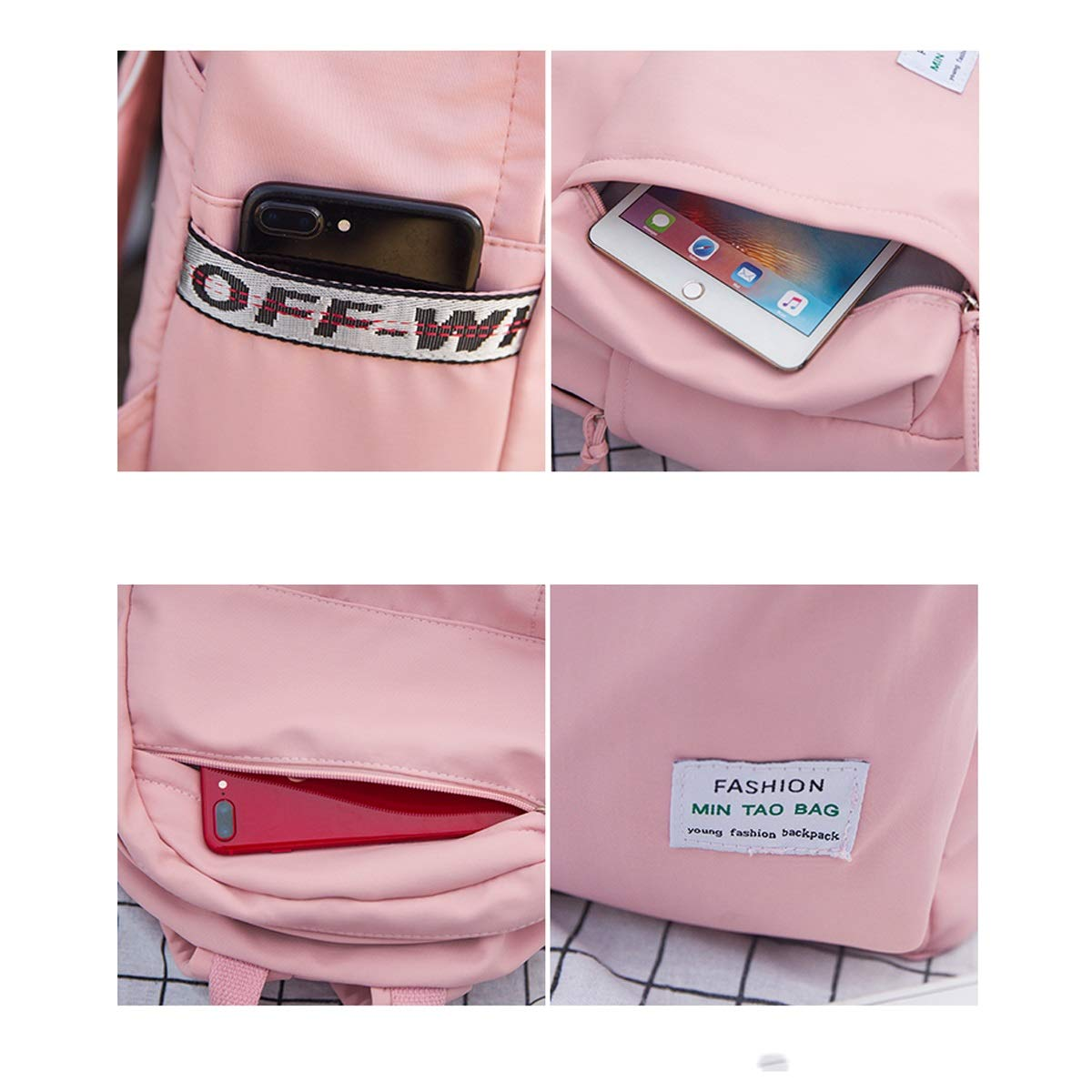 Guyuexuan The Girls Versatile Backpack is Perfect for Everyday Travel Fashion and Leisure Latest Models School Outdoor Work Four Colors Fresh Style Travel