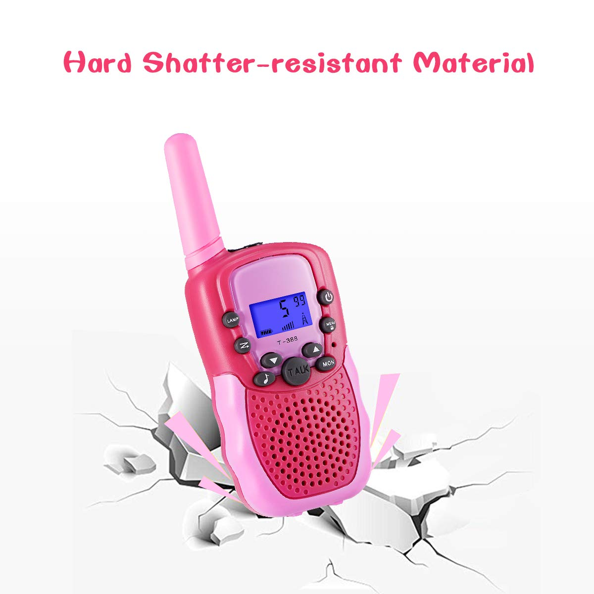 SnowCinda Toys for 3-12 Year Old Girls,Walkie Talkies for Kids with 22 Channels 2 Way Radio 3 Miles Long Range Toy for Outside Adventures, Best Gifts for 4-8 Year Old Boys and Girls by SnowCinda (Image #5)