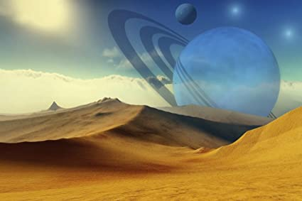Amazon com: A beautiful desert planet and its moons Poster