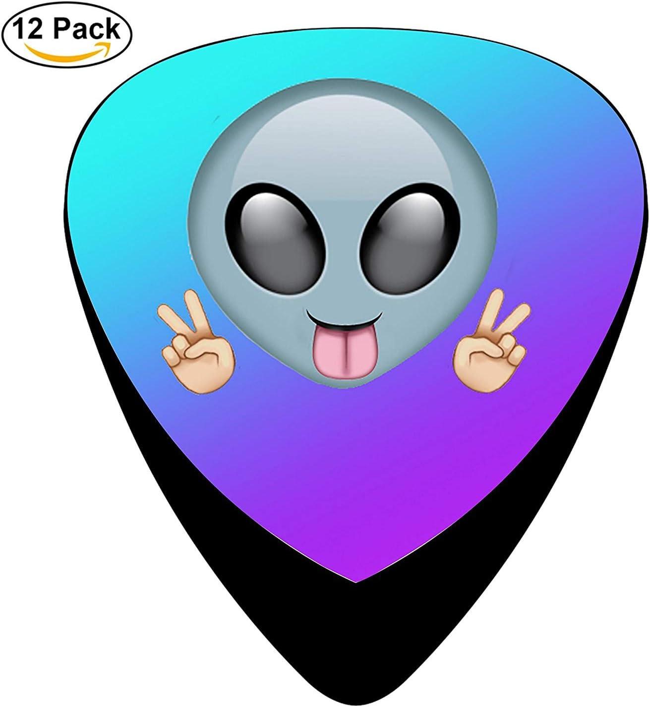 Alien Smile Face Celluloid Electric Guitar Picks 12-pack: Amazon ...