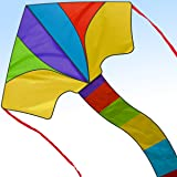 Summer 2017 New Delta Kite - Best Easy Flyer 40 Inch Kites for Kids and Adults - Assemble & Fly in Seconds Model with Handle and String - Today 100% Warranty - Outdoor Beach Fun for Amateur & Pros