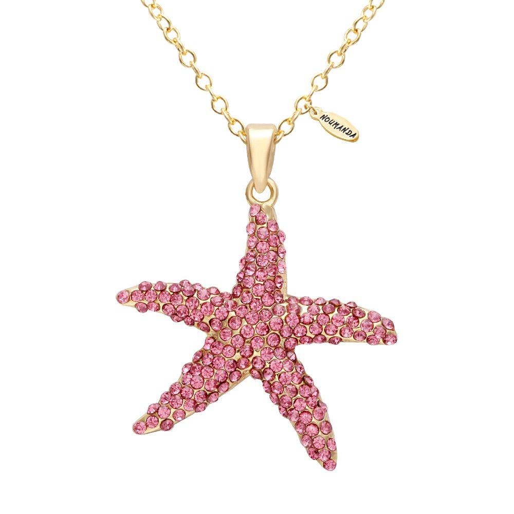 NOUMANDA Deep Sea Star Pink Starfish Necklace Pendant