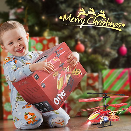 GPTOYS Remote Control Helicopter 4 Channel RC Helicopter with LED Light Indoor Rechargable RC Toys for Kids Boys and Girls by GPTOYS (Image #4)