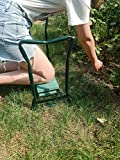 ORAF Garden Kneeler Seat Portable Garden Bench with 2 Free Tool Pouches EVA Foam Pad Outdoor Foldable Sturdy Gardening Tools for
