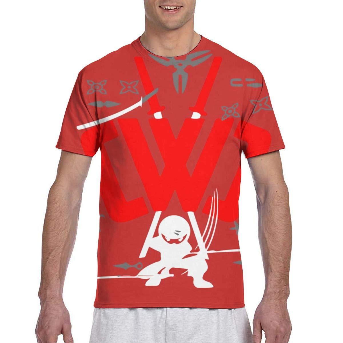 Guys Hawaiian T-Shirts Crewneck Short Sleeve Classic Graphic Print Top Tees