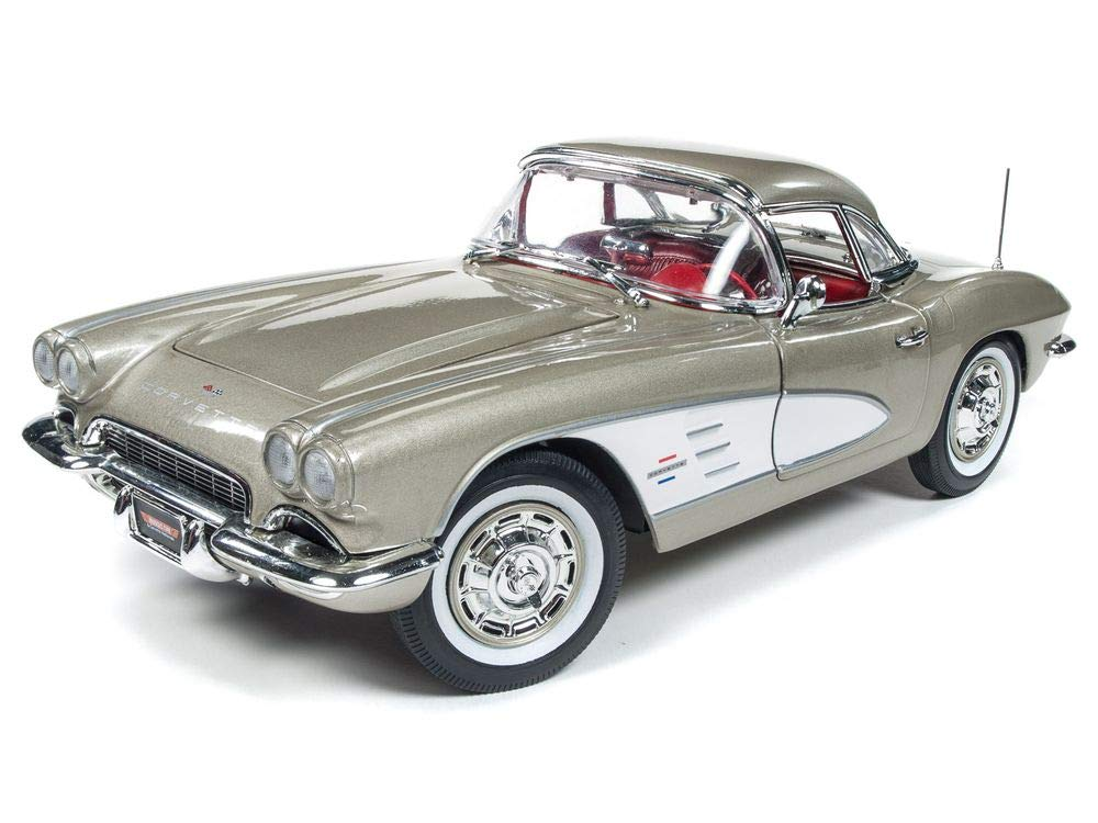 1961 Chevrolet Corvette Hard Top Fawn Beige Muscle Car & Corvette Nationals (MCACN) Limited Edition to 1002 Pieces Worldwide 1/18 Diecast Model Car by Autoworld AMM1151