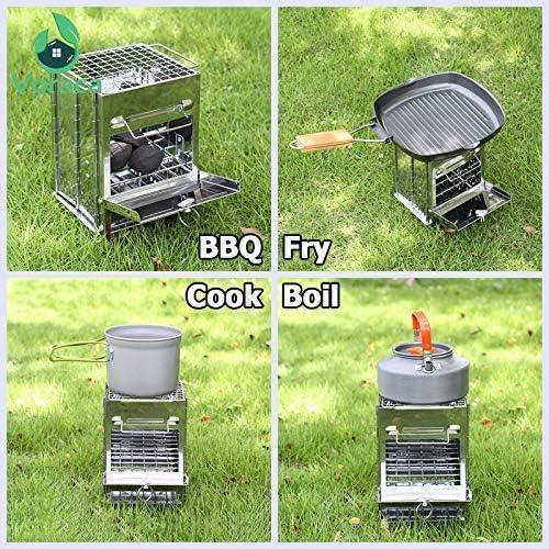 Barbecue Barbecue au charbon, barbecue pique-nique pliante portable barbecue en plein air for le jardin Camping AQUILA1125