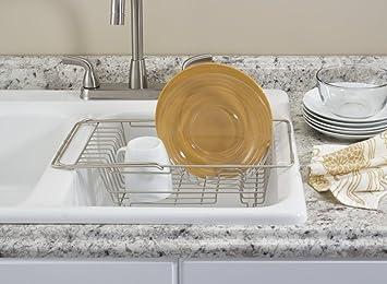 313bc64a12c mDesign égouttoir à vaisselle pour la cuisine - séchoir d assiettes ...