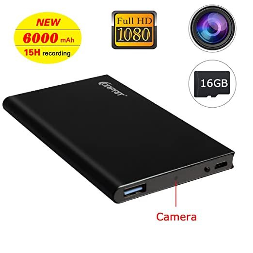 32 opinioni per Corprit telecamera spia HD 1080P Power Bank Telecamera Nascosta 15H continua la