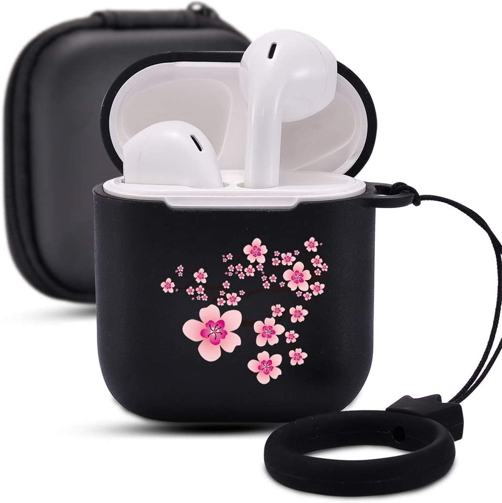 Amazon Com Cherry Blossom Case For Airpods 1 2 With Keychain
