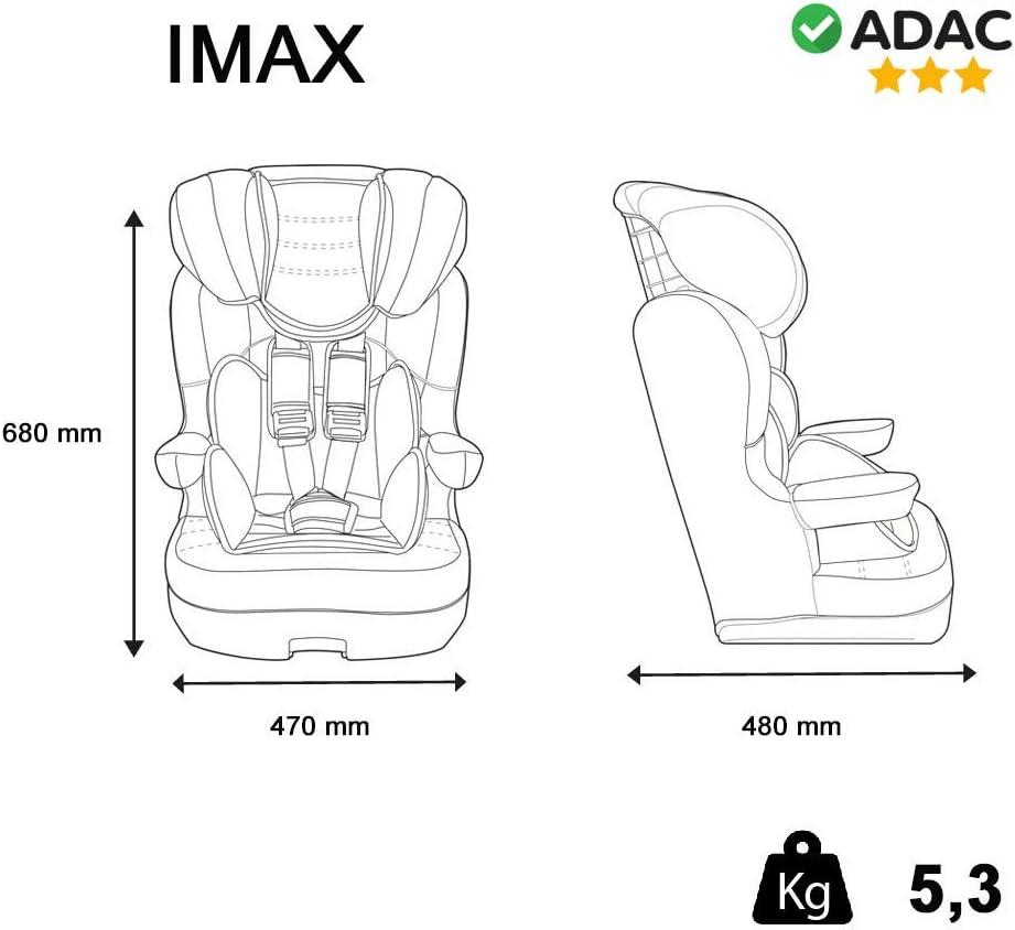 Mycarsit Silla de coche isofix grupo 1//2//3 de 9 a 36kg fabricaci/ón 100/% francesa