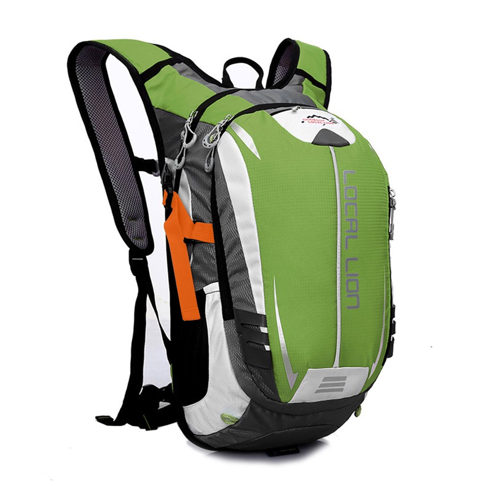 Outdoor Sports Cycling Hiking Camping Travel Daypack, Water resistant, 18L(green)