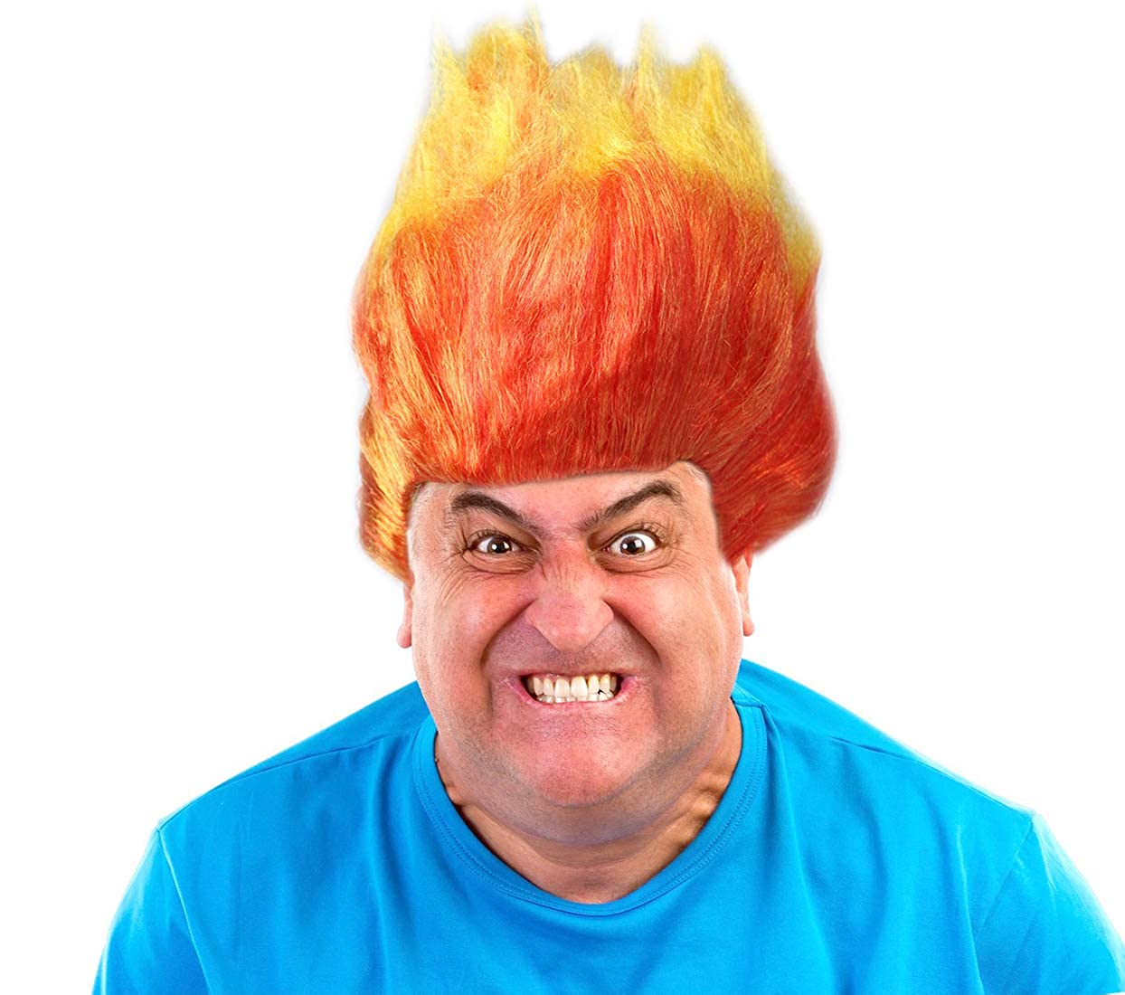 Amazon.com: Ira peluca disfraz de Ira peluca naranja y ...