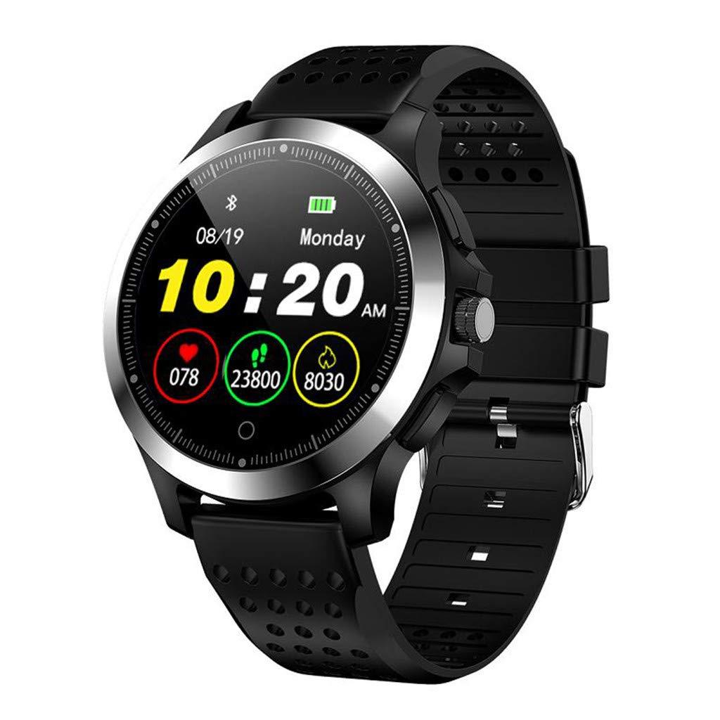 Hauzet Smart Bluetooth Watch, HRV&Blood Oxygen Sleep Monitor Watch,Fitness Activity Tracker Healthy Assistant (Black)