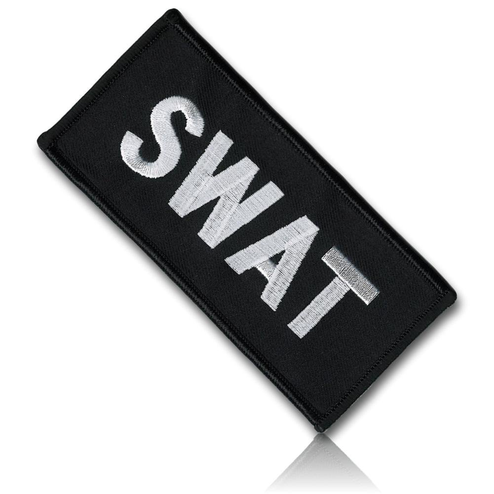 """[1 Count] Custom, Cool & Awesome {2 x 4.5 Inches} Rectangle Nation Guarding Force Security SWAT Police Cop Law Enforcement Emblem Protect & Serve Style (Emblem Type) Hook & Loop Fastener Patch """"Black & White"""" mySimple Products"""