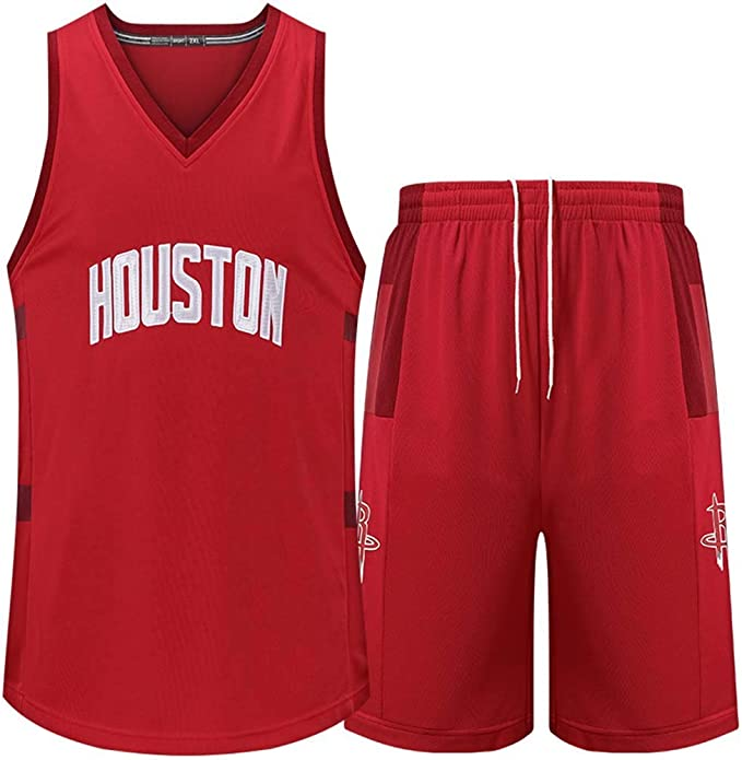QIXUN Camiseta Hombre Jersey Set NBA Fan Rockets Nueva Temporada ...