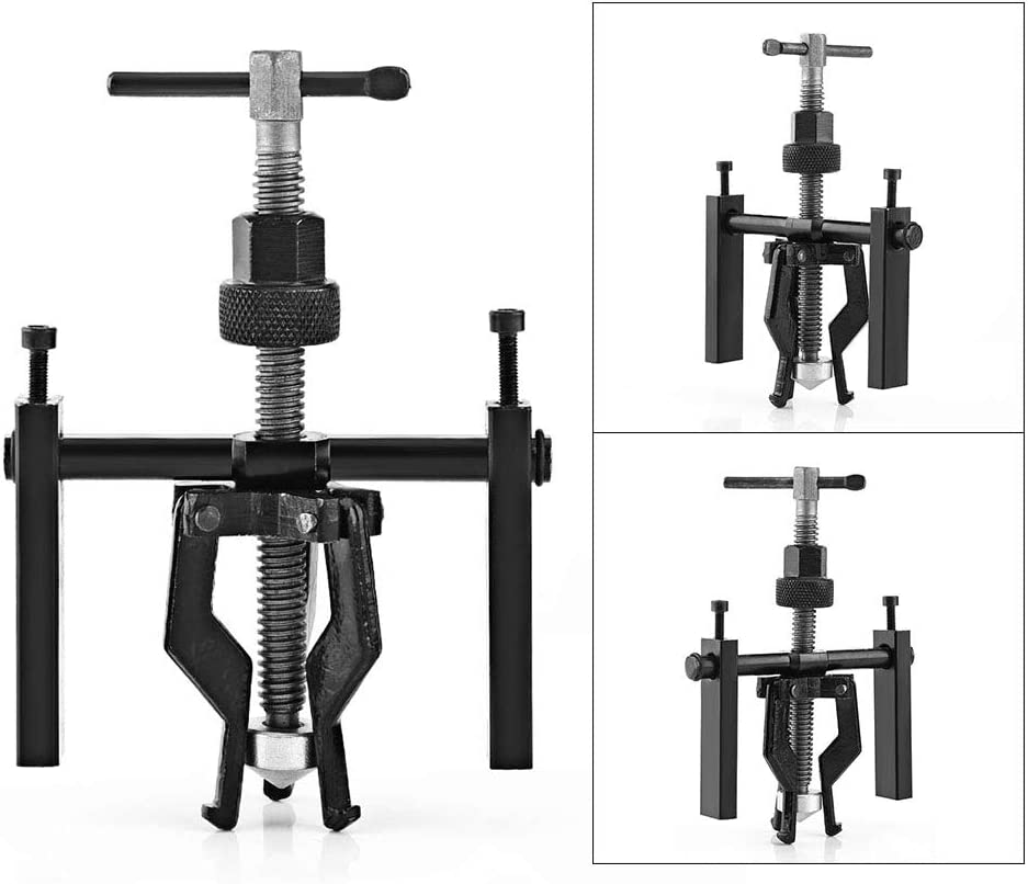 3 Jaw Bearing Puller Inner Bearing Puller Gear Extractor Reversible Inner Bearing Gear Extractor for Motorcycle and Car
