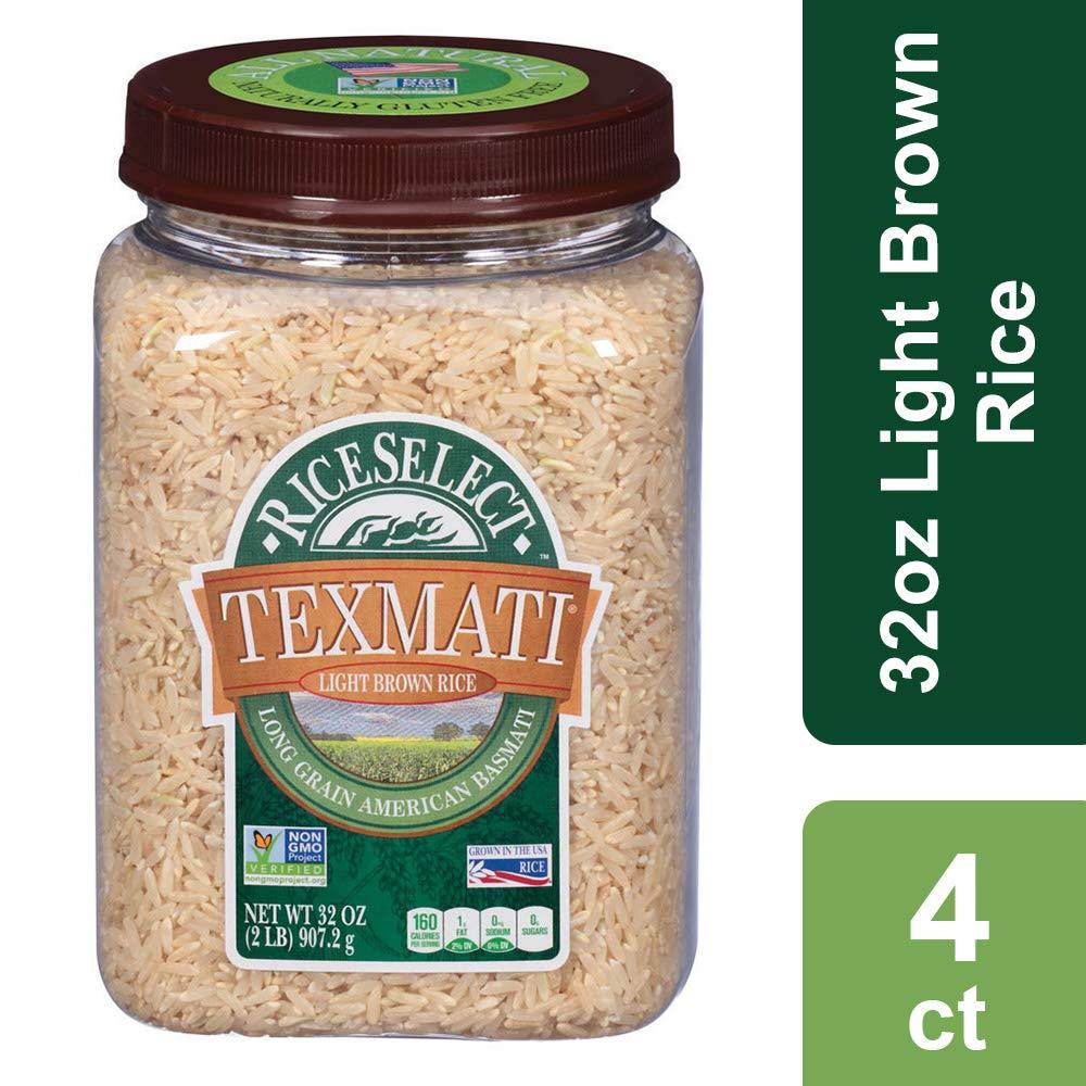 Amazon.com : RiceSelect Texmati Rice, Basmati, Brown, 32