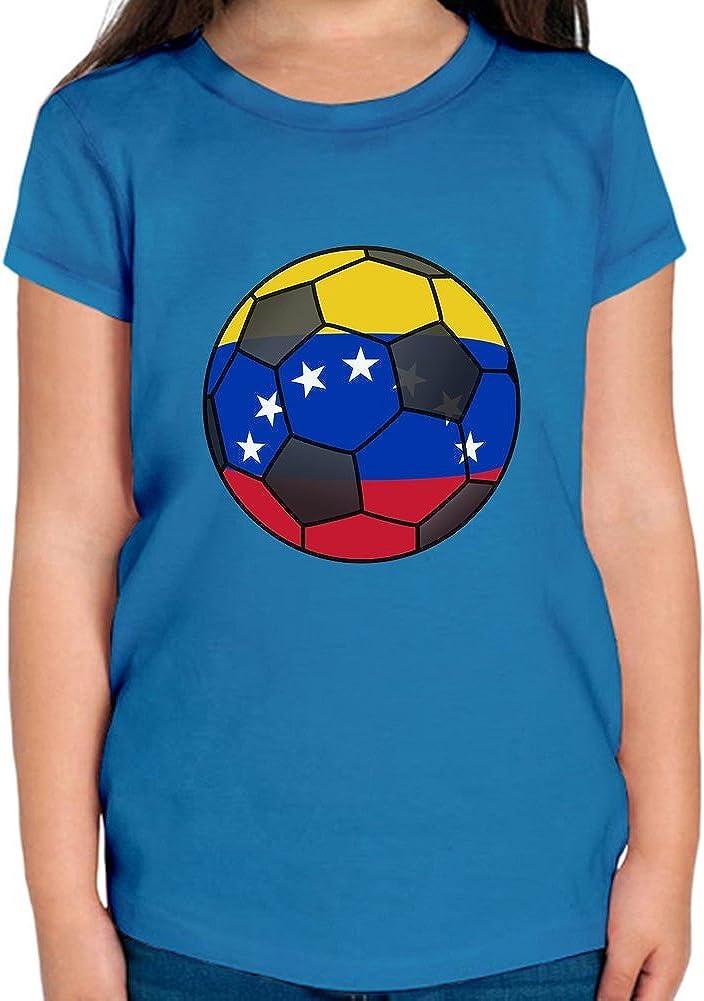 Venezuela Football Camiseta niñas 6/7 yrs: Amazon.es: Ropa y accesorios