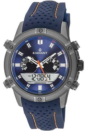 Reloj Radiant para Hombre con Correa Azul y Pantalla en Azul RA483601: Amazon.es: Relojes