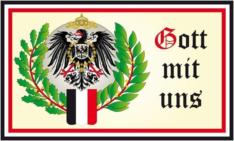 Deutschland Flagge Adler Fahne 90 x 150cm Gott mit Uns 2 DH 50