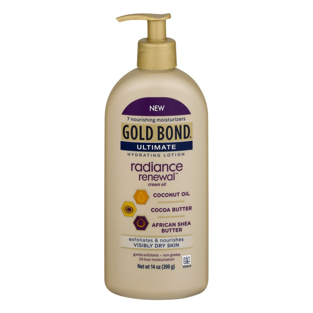 Gold Bond Ultimate Radiance Renewal Cream Oil, 14 Ounce (Pack of 2)