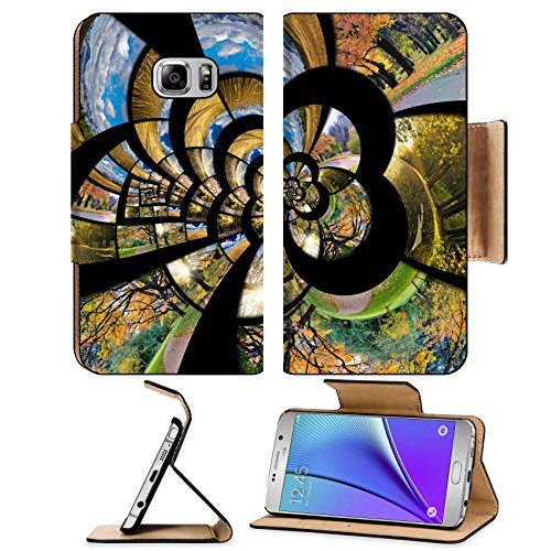 MSD Premium Samsung Galaxy Note 5 Flip Pu Leather Wallet Case Note5 IMAGE ID: 15076466 spiral from autumn photos Travel and seasons concept