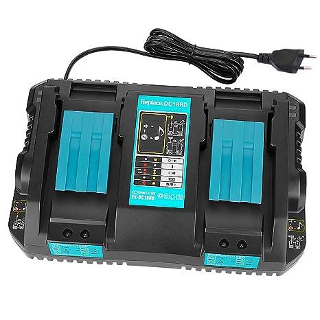 HoZony Cargador de Doble Puerto Dc18Rd para Batería Makita ...