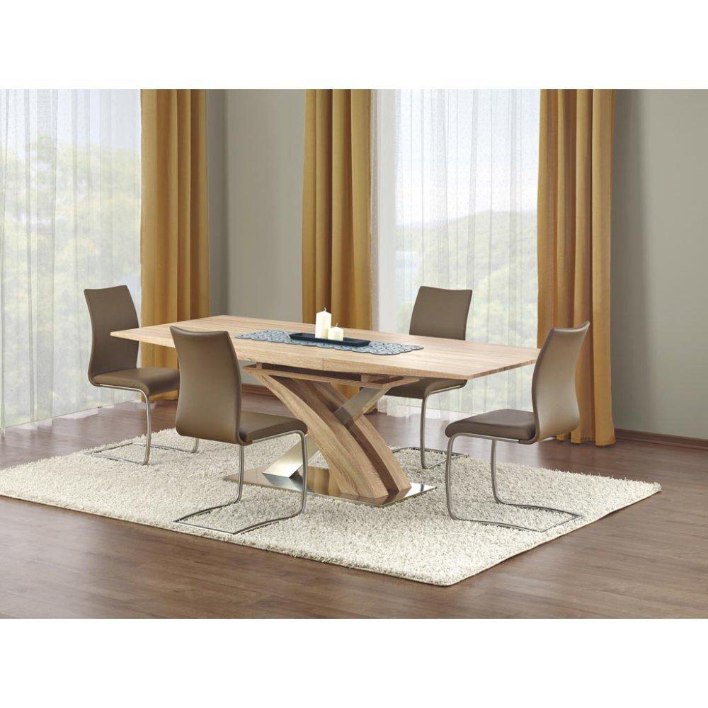 JUSThome Sitzgruppe Essgruppe Esszimmertisch Sandor aus Holz Eiche + 4 Stühle K181